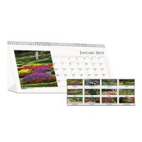 House of Doolittle Recycled Garden Photos Desk Tent Monthly Calendar, 8 1/2 x 4 1/2, 2019 HOD309