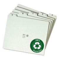 Smead Recycled Top Tab File Guides, Alpha, 1/5 Tab, Pressboard, Letter, 25/Set SMD50376