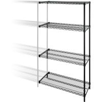 Lorell Industrial Adjustable Wire Shelving Add-On-Unit LLR69142