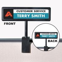 People Pointer People Pointer Cubicle Sign, Plastic, 9 x 2 1/2, Black AVT75334