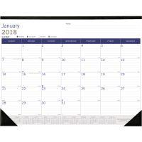 Blueline DuraGlobe Monthly Desk Pad Calendar, 22 x 17, 2018 REDC177227
