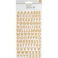 American Crafts Glitter Alphabet Stickers 304/Pkg NOTM430295