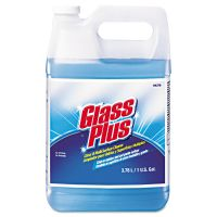 Glass Plus Glass Cleaner, Floral, 1gal Bottle, 4/Carton DVO94379