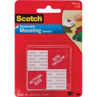Scotch Removable Mounting Squares NOTM220422