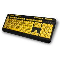 Adesso EasyTouch 132 - Florescent Yellow Multimedia Desktop Keyboard SYNX3881135