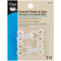 Covered Hooks & Eyes 2/Pkg NOTM090685