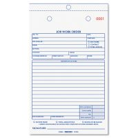 Rediform Job Work Order Book, 5 1/2 x 8 1/2, Two Part Carbonless, 50/Book RED4L456