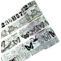 Prima Traveler's Journal Vintage Decorative Tape 4/Pkg NOTM467001