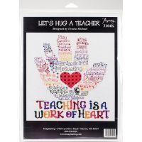 Let's Hug A Teacher Counted Cross Stitch Kit NOTM052470