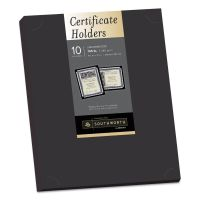 Southworth Certificate Holder, Black, 105lb Linen Stock, 12 x 9 1/2, 10/Pack SOUPF18