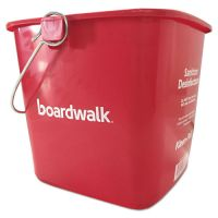 Boardwalk Sanitizing Bucket, 6 qt, Red, Plastic BWKKP196RD