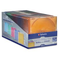 Verbatim CD/DVD Color Slim Jewel Cases, Assorted - 50pk SYNX3176865