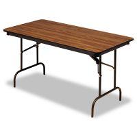 Iceberg Premium Wood Laminate Folding Table, Rectangular, 60w x 30d x 29h, Oak ICE55215