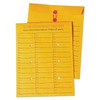 Quality Park Brown Kraft String & Button Box Style Interoffice Envelope, 10 x 13, 100/Box QUA63562