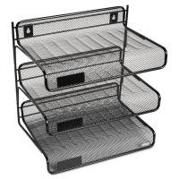 Rolodex Mesh Three-Tier Letter Size Desk Shelf, 10 x 7 x 9 3/8, Black ROL22341