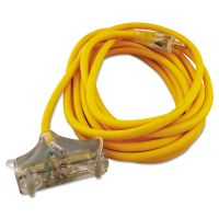 CCI Polar/Solar Outdoor Extension Cord, 25ft, Three-Outlets, Yellow COC03487