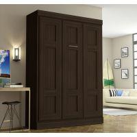 Bestar Edge by Bestar Full Wall bed in Dark Chocolate BESBES7018379