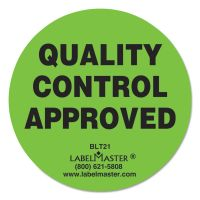 "LabelMaster Warehouse Self-Adhesive Label, 2"" dia., QUALITY CONTROL APPROVED, 500/Roll LMTBLT21"