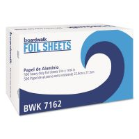 "Boardwalk Standard Aluminum Foil Pop-Up Sheets, 9"" x 10 3/4"", 500/Box BWK7162BX"