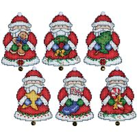 Santa Ornaments Plastic Canvas Kit NOTM051033