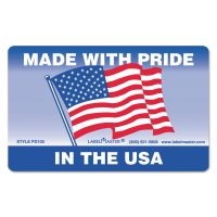 LabelMaster Warehouse Self-Adhesive Label, 5 1/4 x 3, MADE WITH PRIDE IN THE USA, 500/Roll LMTPD100
