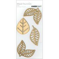 Wood Flourishes 4/Pkg NOTM448744