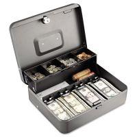 SteelMaster Tiered Cash Box w/Bill Weights, Cam Key Lock, Charcoal MMF2216194G2
