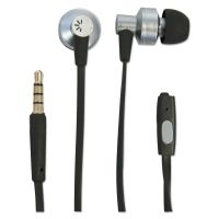 Case Logic 400 Series Earbuds, 4 ft Cord, Black/Silver BTHCLSTHD400