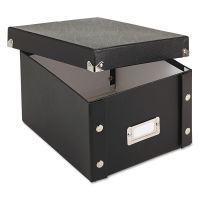 Snap-N-Store Collapsible Index Card File Box, Holds 1,100 5 x 8 Cards, Black IDESNS01647