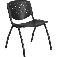 Flash Furniture HERCULES Series Plastic Stacking Chair  FHFRUTF01ABKGG