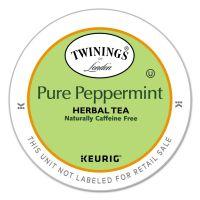 TWININGS Tea K-Cups, Peppermint Tea, 0.11 oz K-Cups, 24/Box TWG08760