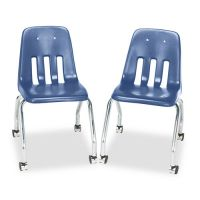Virco Standard Teacher's Chair, 18-5/8 x 21 x 30, Blueberry, 2/Carton VIR905040