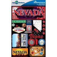 Jet Setters Dimensional Stickers NOTM226401