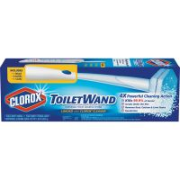 Clorox Toilet Wand Disposable Toilet Cleaning Kit: Handle, Caddy & Refills, White CLO03191