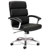 HON VL103 Series Executive Mid-Back Chair, Black Leather BSXVL103SB11
