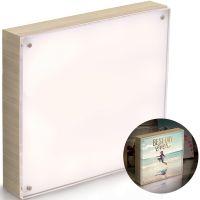 """We R PhotoLights Backlit Wood Finish W/Acrylic Frame 8""""X8"""" NOTM236382"""