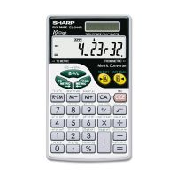 Sharp EL344RB Metric Conversion Wallet Calculator, 10-Digit LCD SHREL344RB