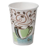 Dixie PerfecTouch Hot Cups, Paper, 8oz, Coffee Dreams Design, 50/Pack DXE5338CDPK