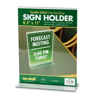 NuDell Acrylic Sign Holder, 8 1/2 x 11, Clear NUD38020