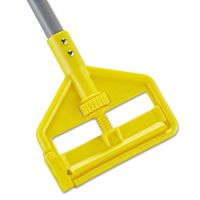 Rubbermaid Commercial Invader Aluminum Side-Gate Wet-Mop Handle, 1 dia x 54, Gray/Yellow RCPH135