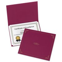Oxford Certificate Holder, 11 1/4 x 8 3/4, Burgundy, 5/Pack OXF29900585BGD