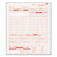 Paris Corporation UB04 Insurance Claim Form, 1-Part Continuous White, 9 1/2 x 11, 2500 Forms PRB05109
