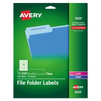 Avery Clear File Folder Labels, 1/3 Cut, 2/3 x 3 7/16, 450/Pack AVE5029