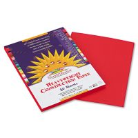 SunWorks Construction Paper, 58 lbs., 9 x 12, Holiday Red, 50 Sheets/Pack PAC9903