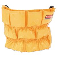 Rubbermaid Commercial Brute Caddy Bag, 12 Pockets, Yellow RCP264200YW