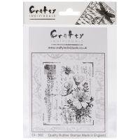 """Crafty Individuals Unmounted Rubber Stamp 4.75""""X7"""" Pkg NOTM082619"""