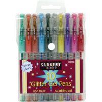 Sargent Art Glitter Gel Pen Set 10/Pkg NOTM445150