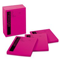 Post-it Notes Super Sticky Self-Stick Message Pad, 4 x 5, Pink, 50-Sheet, 12/Pack MMM766212SS