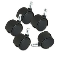 Master Caster Deluxe Duet Casters, Nylon, B and K Stems, 110 lbs./Caster, 5/Set MAS23622