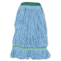 Boardwalk Super Loop Wet Mop Head, Cotton/Synthetic Fiber, Medium, Blue BWK502BLNB